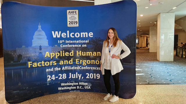 DC student gives a paper presentation at AHFE 2019